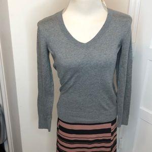 LOFT gray neck sweater 100% cotton